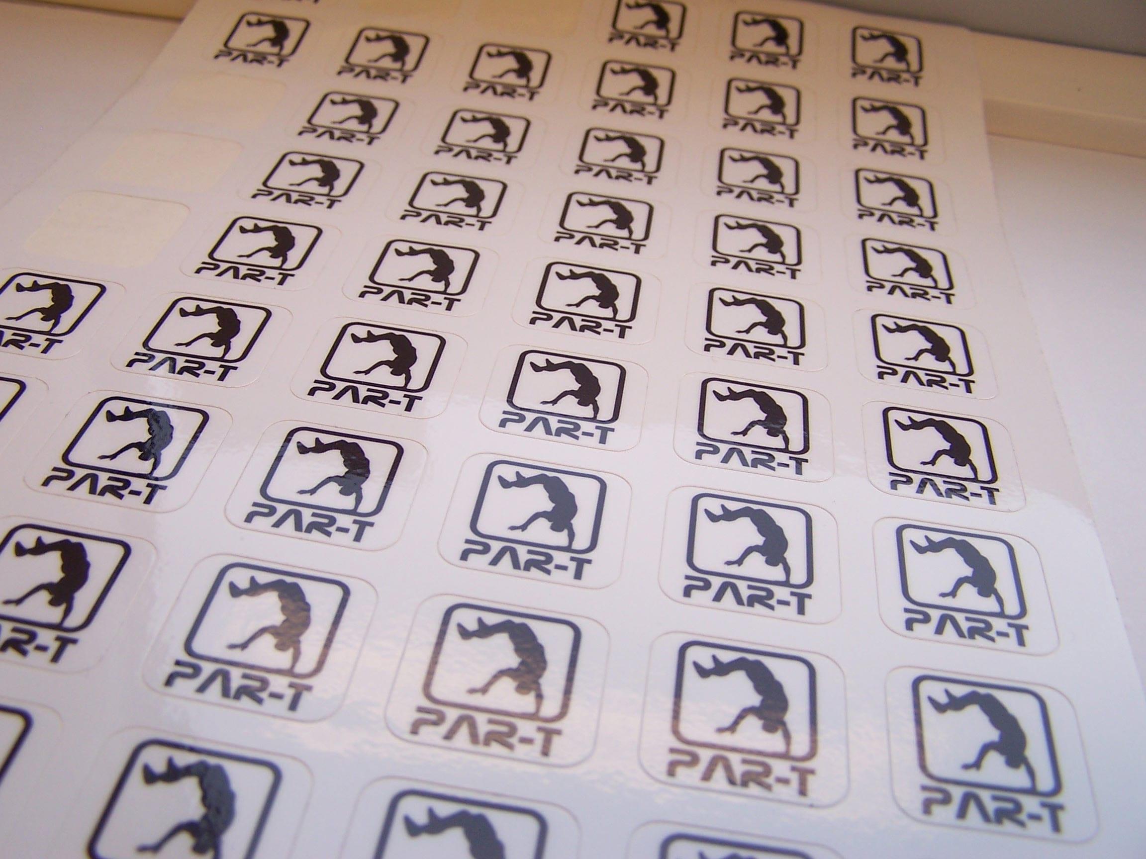Stickers op vel als promotiemiddel