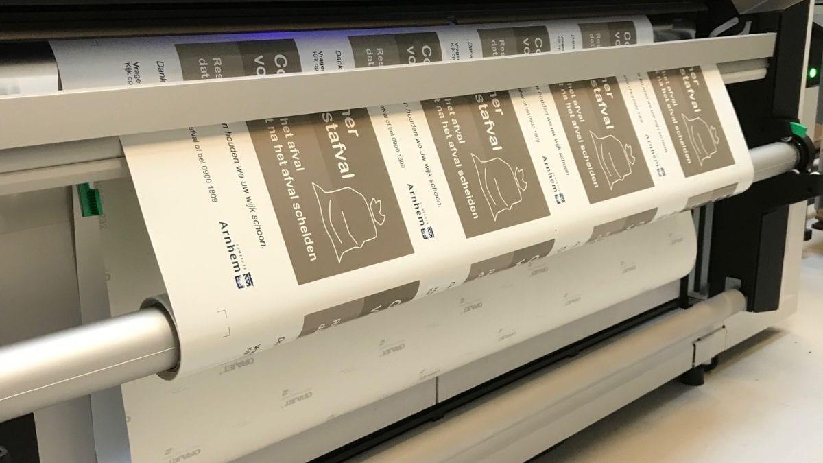 Stickers printen met UV-Gel in de slimste regio Eindhoven.
