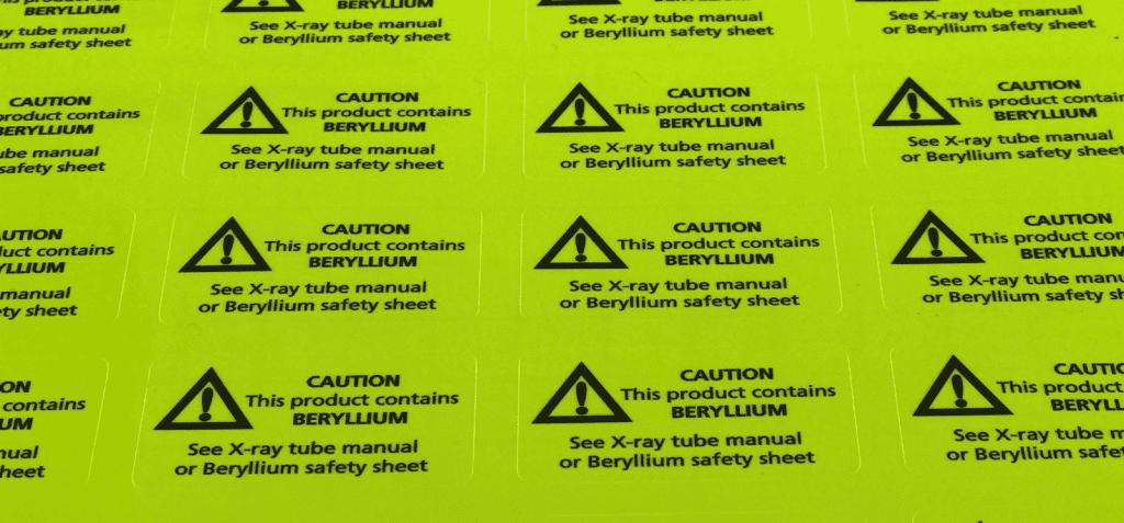 Een sticker is een waarschuwing. 3